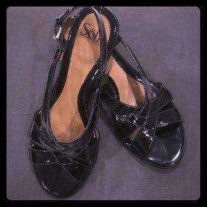 Söfft Andrea black patent sandals
